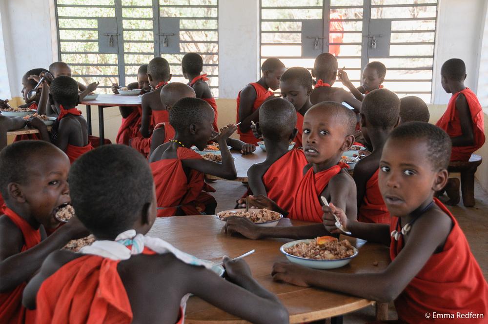 Lunch at Olng'arua School