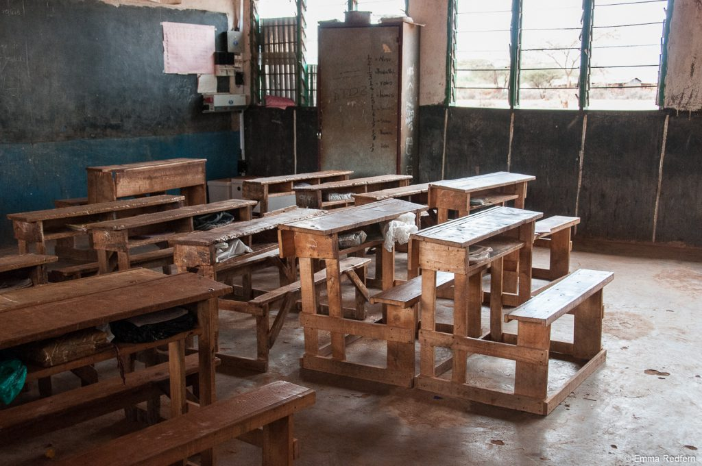 A classroom in one of the top government primary schools in northern Kenya