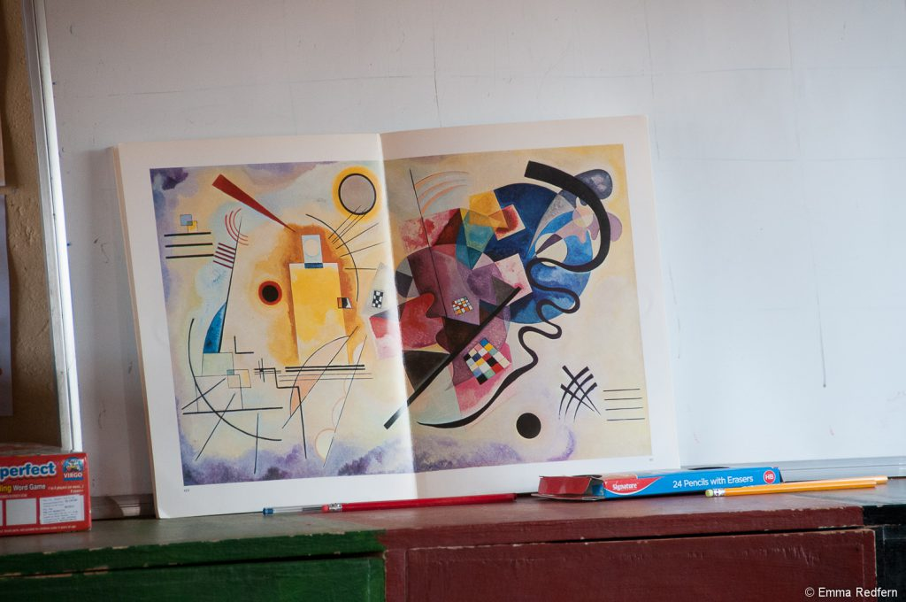 Art in the style of Kandinsky at Olng'arua School