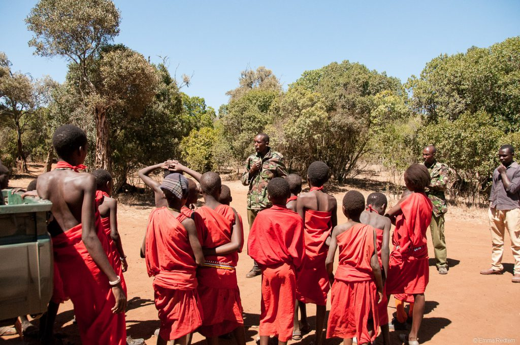 Meeting the rangers at Ngare Ndare Forest
