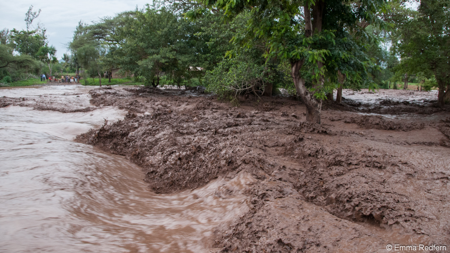 Flooding river in Isiolo County
