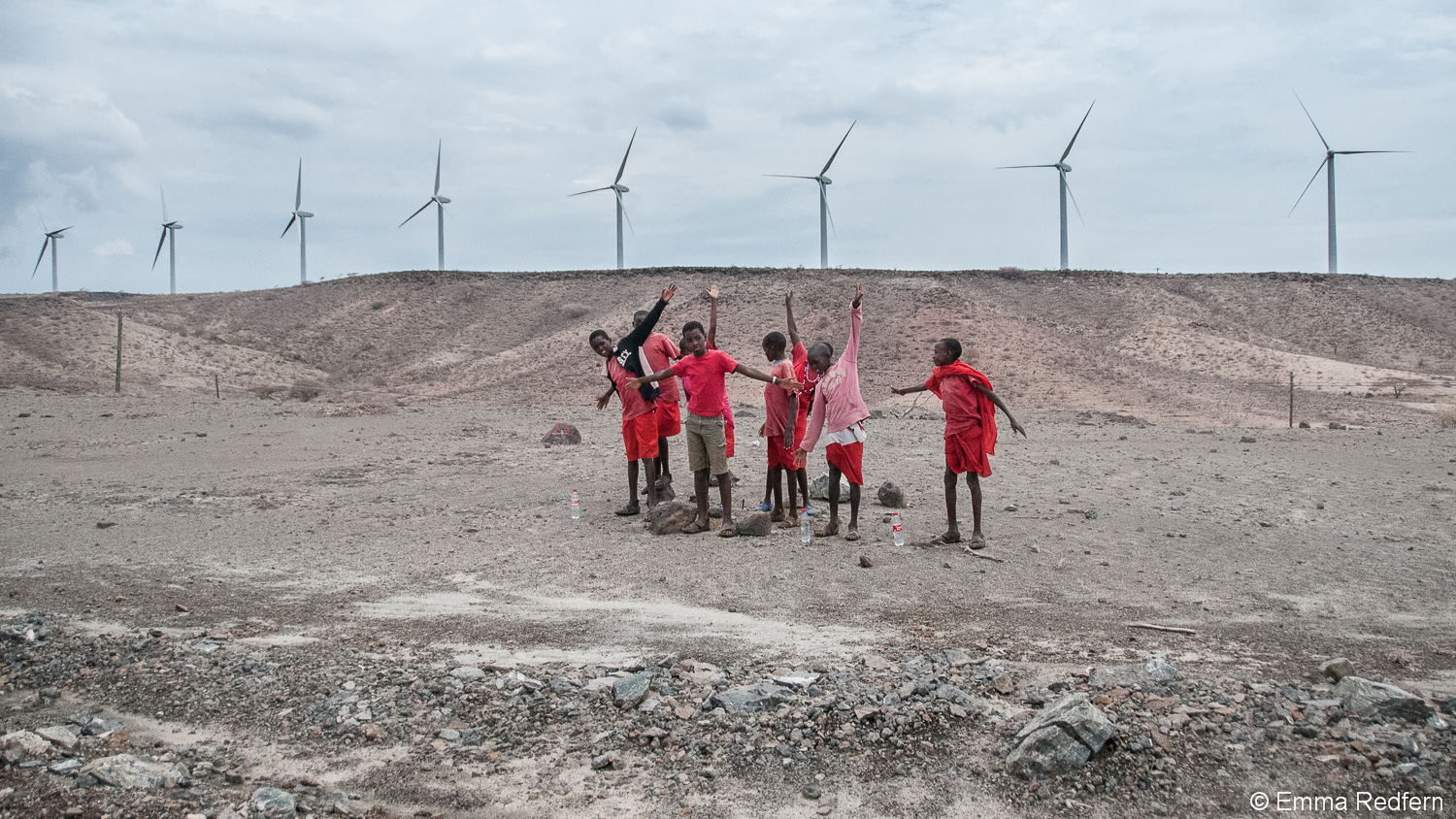 Making like wind turbines at Lake Turkana Wind Farm
