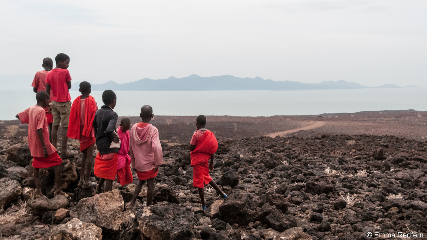 Taking in the first view of Lake Turkana