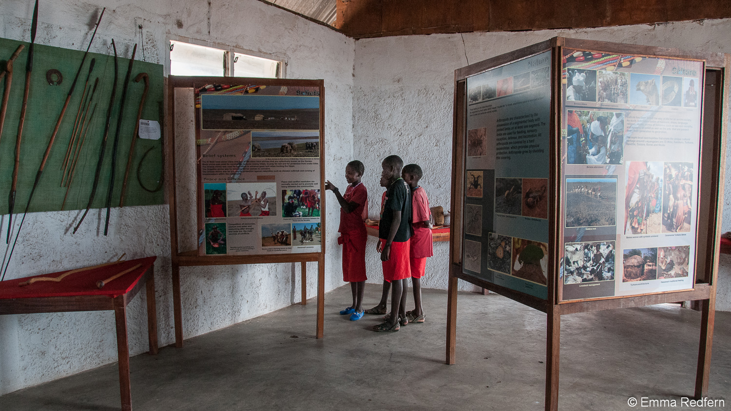 Displays inside the Lake Turkana Cultural Centre Museum