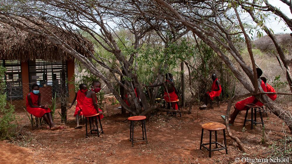Outdoor classes at Olng'arua School