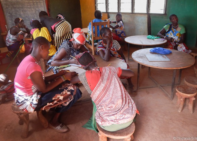 A group of adult learners at Olng'arua School